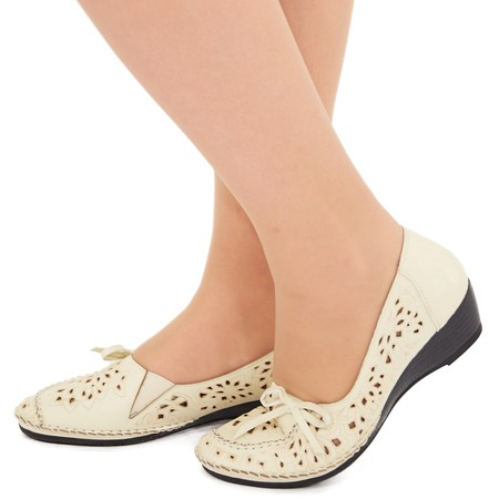 Купить Туфли EGO «Романтика». Цвет: бежевый