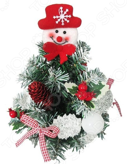 Ель с украшениями Новогодняя сказка «Снеговик»