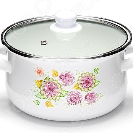Кастрюля с крышкой Mayer&Boch «Цветочный вальс» посуда кухонная