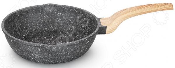 Сковорода с носиками для слива LARA Granit Rome сковорода блинная lara granit palermo