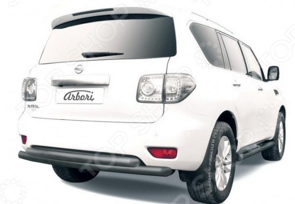 Защита заднего бампера Arbori двойная для Nissan Patrol, 2012-2014 qty 2 stabilus sg366006 oem заднего ствола подъемника поддерживает struts потрясений спрингс