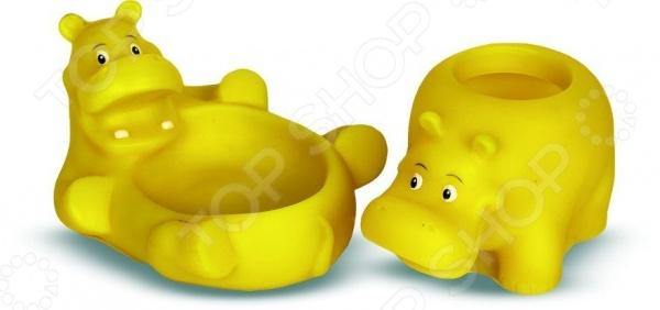 Набор игрушек для ванны Весна «Бегемотики» игрушки для ванны tolo toys набор ведерок квадратные