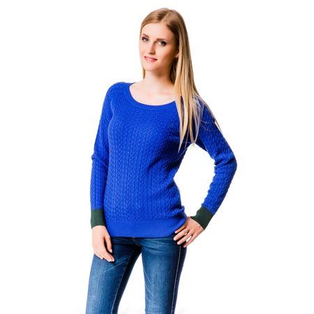 Купить Свитер Mondigo 10022. Цвет: темно-синий