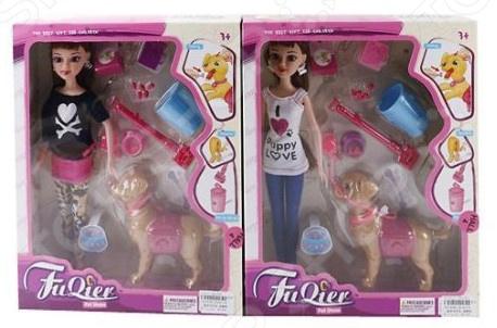 Кукла с аксессуарами Наша Игрушка «Кэти и ее питомец». В ассортименте игрушка palace pets скунс полянка питомец рапунцель с аксессуарами