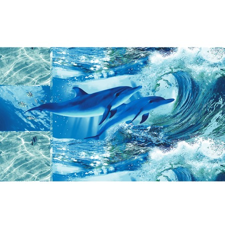Купить Полотенце банное вафельное ТексДизайн «Дельфинарий»