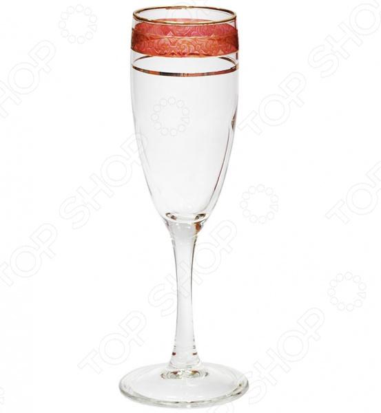 Набор бокалов для шампанского Гусь Хрустальный «Махараджа» гусь хрустальный