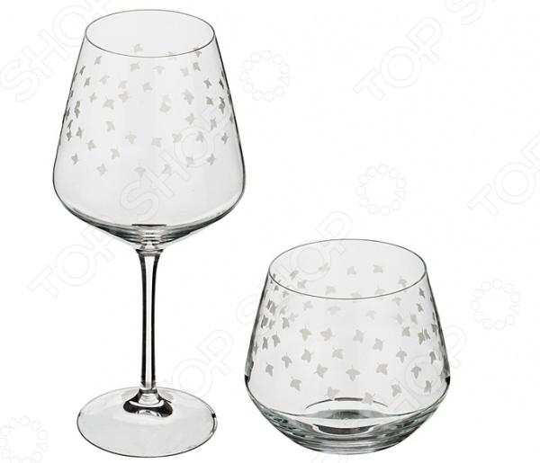 Набор: бокал для вина и стакан для виски RCR «Овень»