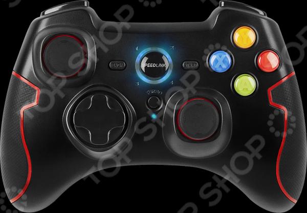 Геймпад беспроводной Speedlink Torid Wireless PC PS3 геймпад для любителей удобной игры с друзьями на одном компьютере. Используется в основном для игр в файтинги. Благодаря продуманной форме устройство отлично сидит в руках. Предусмотрены 10 кнопок и 2 аналоговых триггера. Есть цифровая крестовина на 8 направлений. Также присутствует вибрация во время получения урона. Преимущества:  Подключаемая функция турбоогня.  Встроенный литиево-полимерный аккумулятор на 600мА ч до 10ч игрового времени время зарядки ок. 2-3ч .  Компактный приемник Nano-USB.  Интенсивные вибрационные эффекты для реалистичных ощущений в игре.  Прорезиненные бока для улучшения удобства и надежности.  Включая зарядный USB-кабель 100см .
