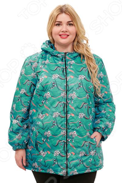 Куртка двухсторонняя СВМ-ПРИНТ «Белиссима». Цвет: зеленый
