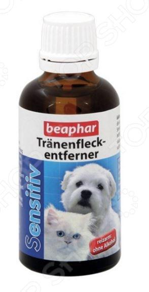 Лосьон для удаления слезных пятен у кошек и собак Beaphar Sensitive 10264 лайна мс спрей для удаления меток и запахов домаш животных пихта 0 75л