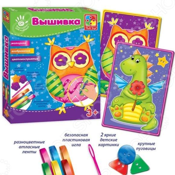 Набор для вышивания для ребенка Vladi Toys «Сова»