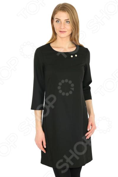 Платье Finn Flare B17-11019. Цвет: черный