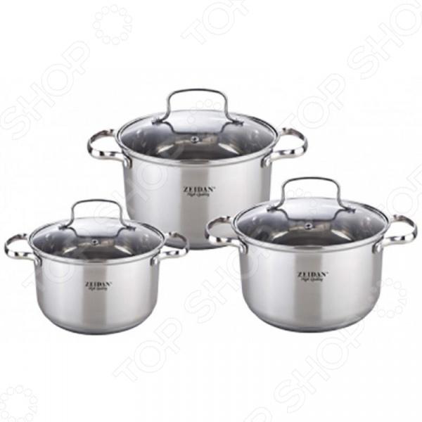 Набор кастрюль Zeidan Z-50615 набор посуды zeidan z 50620