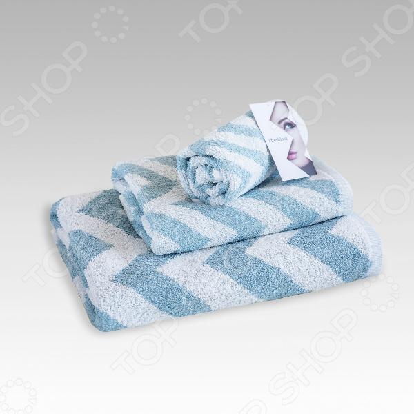 Полотенце махровое Василиса Memories. Цвет: серебристый, голубой