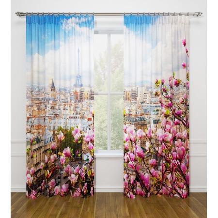 Купить Фотошторы Стильный дом «Париж с моего окна»
