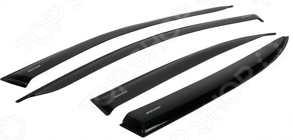 Дефлекторы окон неломающиеся накладные Azard Voron Glass УАЗ Hunter