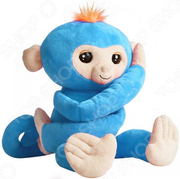 Мягкая игрушка интерактивная Fingerlings «Обезьянка-обнимашка голубая»
