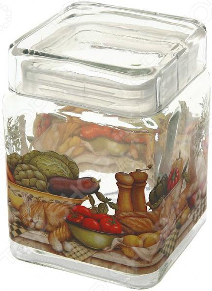 Банка для сыпучих продуктов Sinoglass «Ленивый повар»
