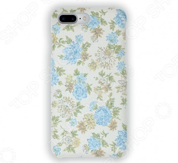 Чехол для iPhone 7 Plus Mitya Veselkov «Нежные голубые цветы»