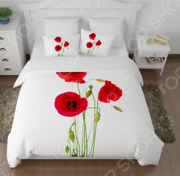 Комплект постельного белья Сирень «Выразительные маки» сирень постельное белье 1 5 спальное выразительные маки