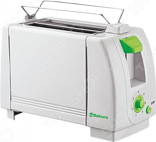 Тостер Sakura SA-7600 Тостер Sakura SA-7600G /Зеленый/Белый
