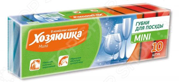 Набор губок для мытья посуды Хозяюшка «Мила» 01005 набор губок для посуды бабочка mini