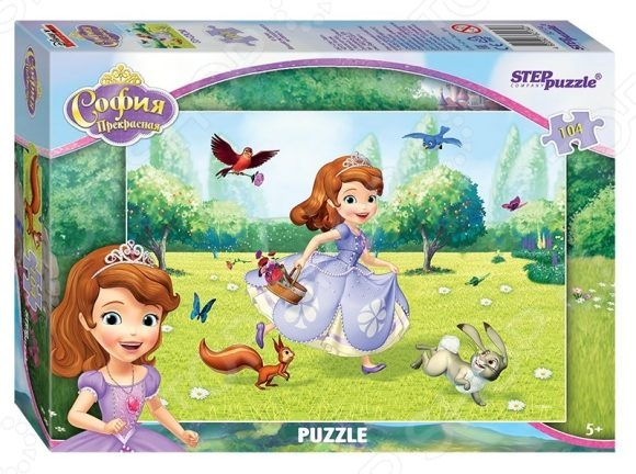 Пазл 104 элемента Step Puzzle «Принцесса София» пазл step puzzle принцесса софия disney 60 элементов