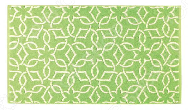 Полотенце махровое Aquarelle Стамбул. Цвет: травяной, белый