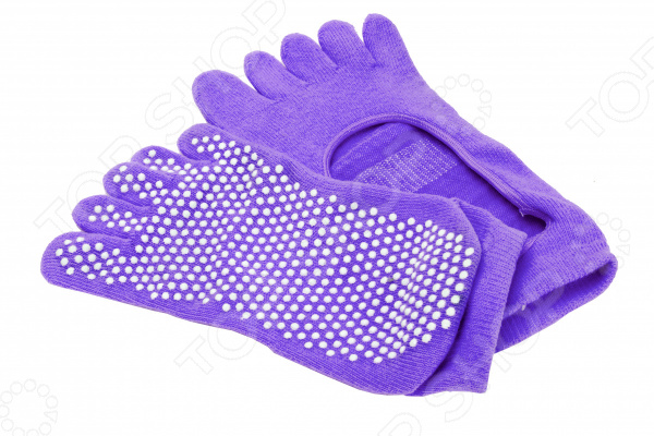 Носки противоскользящие Bradex для занятий йогой Носки противоскользящие Bradex SF 0347 /Фиолетовый