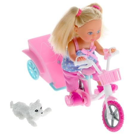 Купить Кукла с аксессуарами Simba «Еви на велосипеде с собачкой»ю В ассортименте