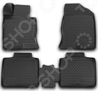 Комплект 3D ковриков в салон автомобиля Novline-Autofamily Hyundai Grandeur 2012 комплект ковриков в салон автомобиля novline autofamily lada largus 2012 5