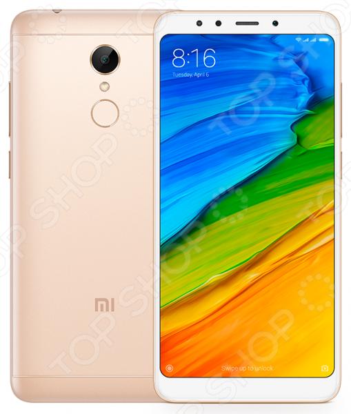 Смартфон Xiaomi Redmi 5 современный умный гаджет, который обеспечит стабильную связь и удобный доступ в интернет. Никакого торможения и зависания при просмотре видео, быстрый отклик в онлайн-играх, комфортное общение, прослушивание музыки, чтение и прочие фишки. Это устройство станет отличным решением для людей, ведущих активный образ жизни.   Большой дисплей с диагональю 5,7 дюймов и разрешением 1440x720 пикселей радует высокой четкостью изображения.  Экран с соотношением сторон 18:9 обеспечивает новый опыт в процессе работы с приложениями.  Фронтальная вспышка для качественных селфи .  Сканер отпечатка пальца лучшая защита от несанкционированного доступа к телефону посторонними.  Поддержка работы двух Sim-карт. Удобно в ситуациях, когда вы хотите использовать тарифные планы двух разных операторов. Размер смартфона 72,8x151,8x7,7 мм при весе в 157 грамм.