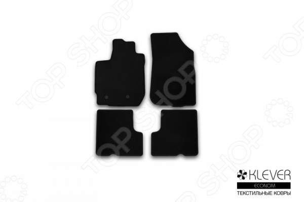 Комплект ковриков в салон автомобиля Klever Renault Duster 2WD / 4WD 2015 Econom с/р коврики салона rival для nissan terrano 2wd 4wd 2017 н в renault duster 2wd 4wd 2015 н в полиуретан 14701007