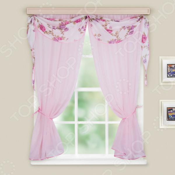 Штора легкая WITERRA «Легкость». Цвет: бледно-розовый. В ассортименте