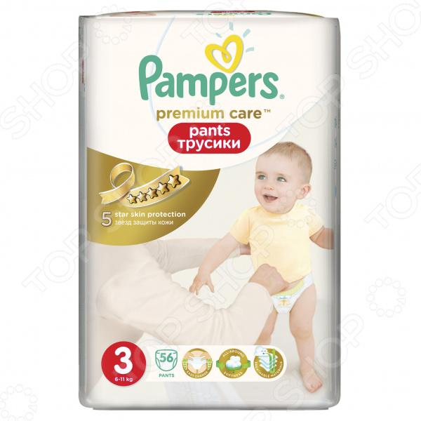 Трусики-подгузники Pampers Premium Care Pants 6-11 кг, размер 3, 56 шт.