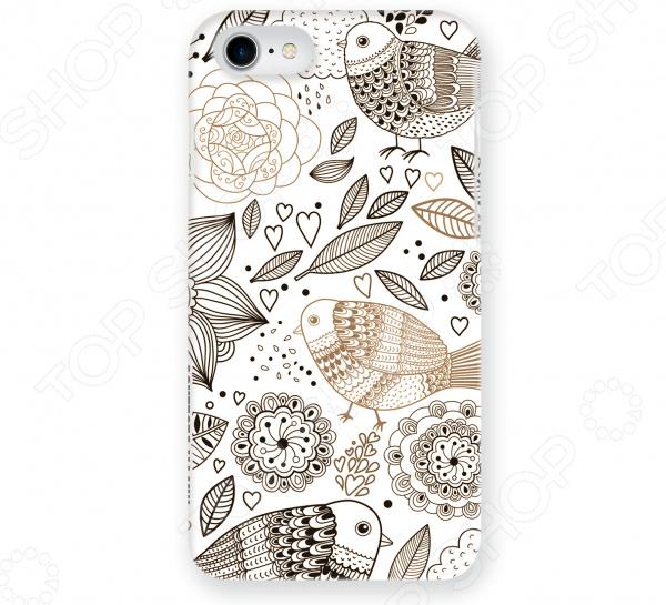 Чехол для iPhone 7 Mitya Veselkov «Цветы и Птички»