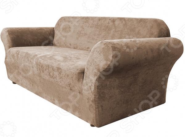 Натяжной чехол на двухместный диван Медежда «Лидс»