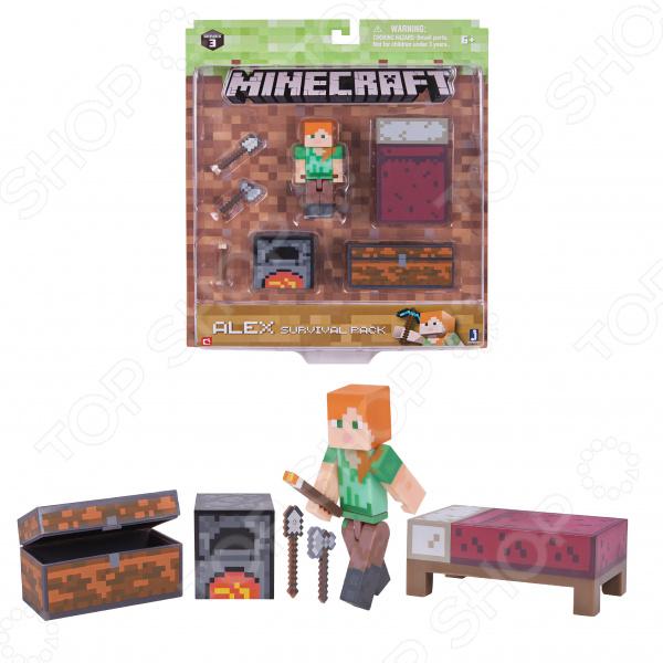 Набор фигурок игрушечных Minecraft «Набор для выживания» пазлы magic pazle объемный 3d пазл эйфелева башня 78x38x35 см