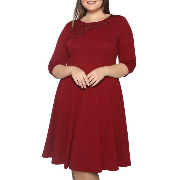 фото Платье Blagof «Сияние сердца». Цвет: бордовый. Размер одежды: 58