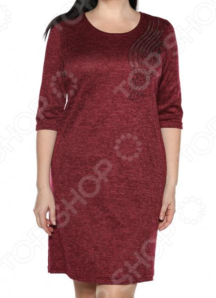 Платье LORICCI «Леди полуночи». Цвет: бордовый платье loricci белые ночи цвет серый