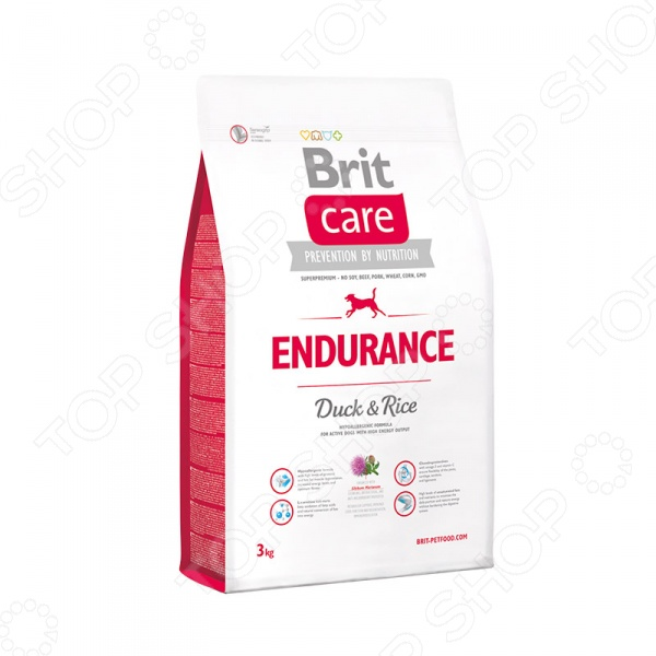 Care Endurance Duck & Rice Корм сухой для активных собак Brit Care Endurance Duck & Rice
