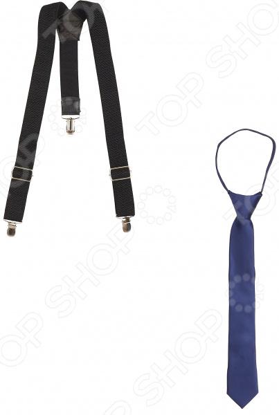 Набор: галстук и подтяжки Stilmark Tie & Braces классический галстук аксессуар robe длинные tie костюм диагональные полосы терилен