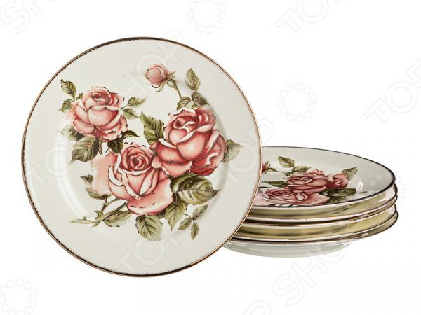 Набор десертных тарелок Lefard «Роза»