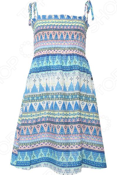 Платье для девочки Finn Flare KS16-71004. Цвет: бирюзовый