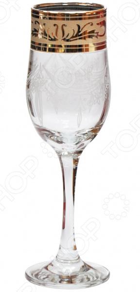 Набор бокалов для шампанского Гусь Хрустальный «Русский Узор»