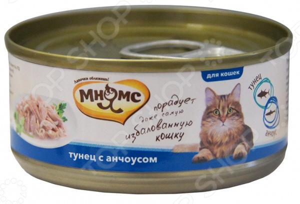 Корм консервированный для кошек Мнямс «Тунец с анчоусами в нежном желе»