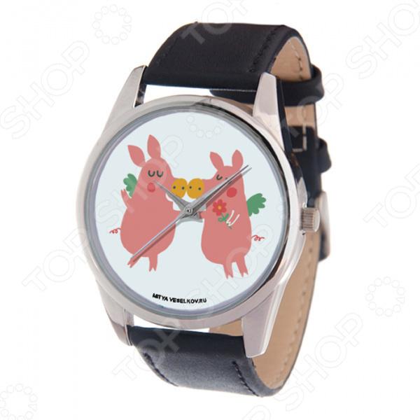 Часы наручные Mitya Veselkov «Влюбленные поросята» цена