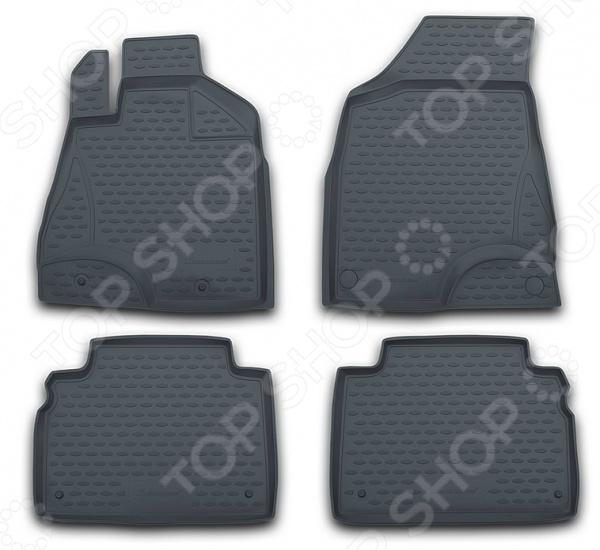 Комплект ковриков в салон автомобиля Novline-Autofamily Volkswagen Touareg 2010 pu