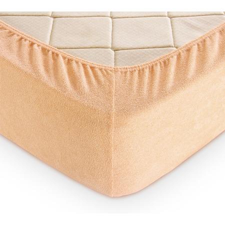 Купить Простыня на резинке ТексДизайн махровая. Цвет: кремовый