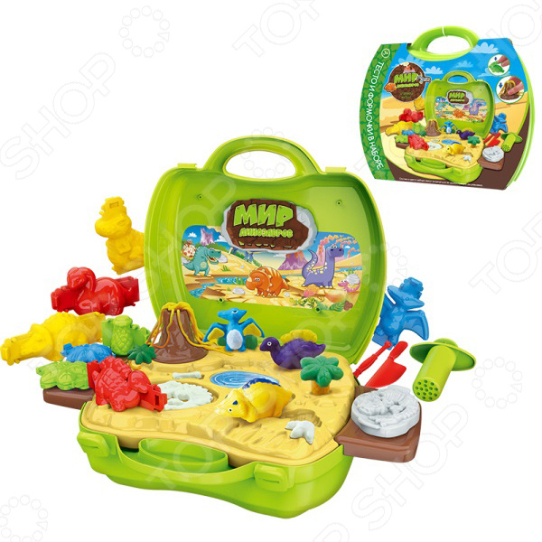 Набор теста для лепки 1 Toy «Мир Динозавров» всё для лепки 1 toy студио набор теста для лепки тосты 4 цвета